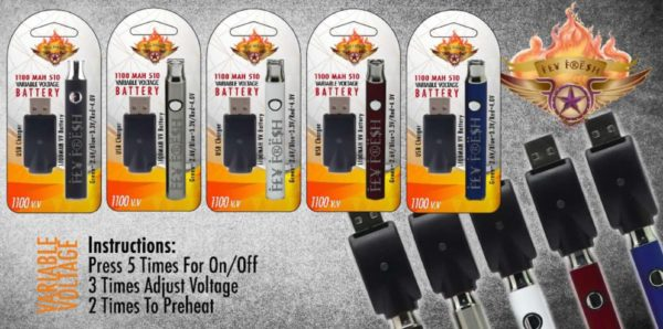 Fly Fresh 1100 MAH 510 Variable Voltage
